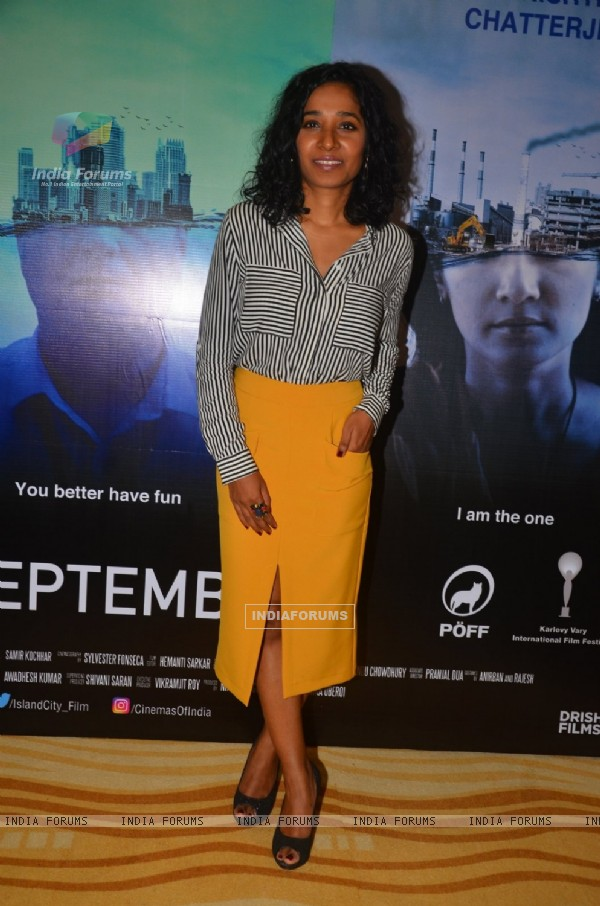 Tannishtha Chatterjee at Press meet of Island City