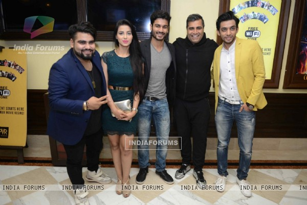 Ashrut Jain and Shailendra Singh at Press Meet of Sunshine Music Tours and Travels