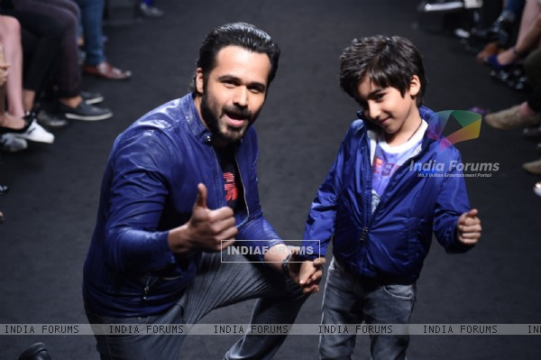 Day 5 - Emraan Hashmi walks with his son Ayaan at Lakme Fashion Week '16
