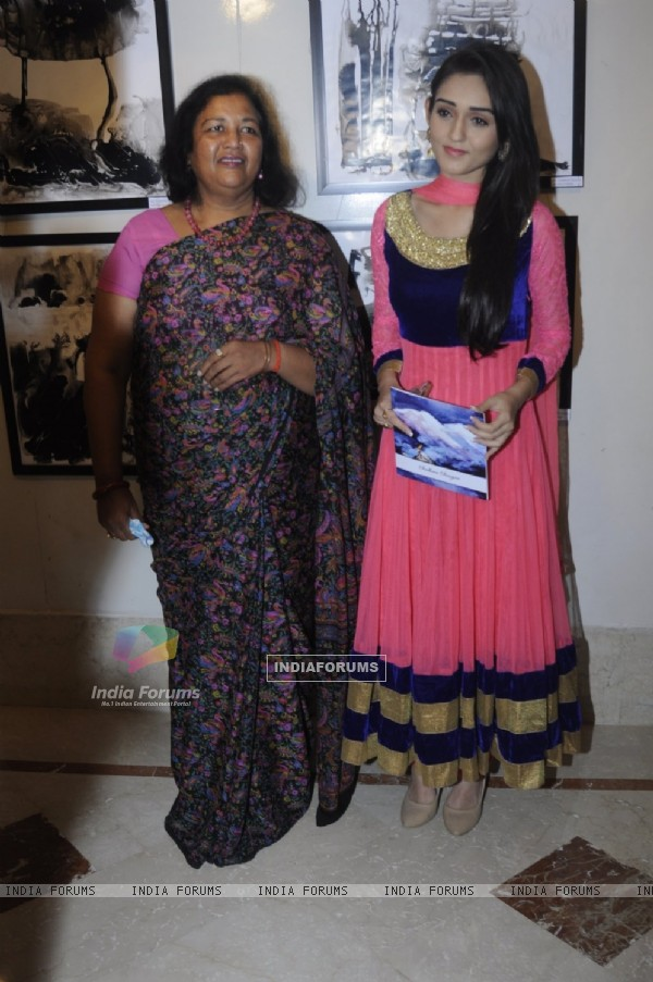 TV actress Tanya Sharma at Inauguration of an Art Exhibition!
