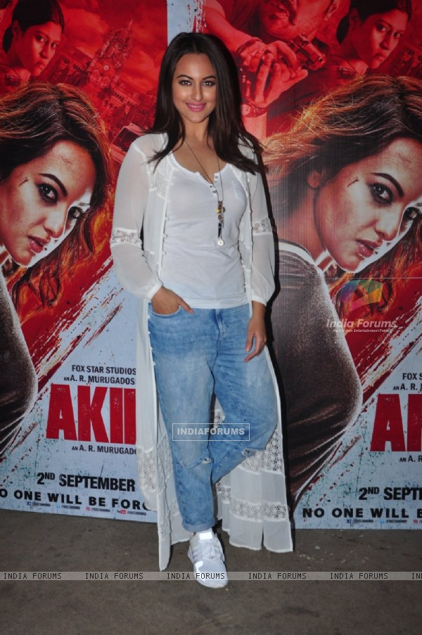 Sonakshi Sinha at Special screening of Film 'Akira'
