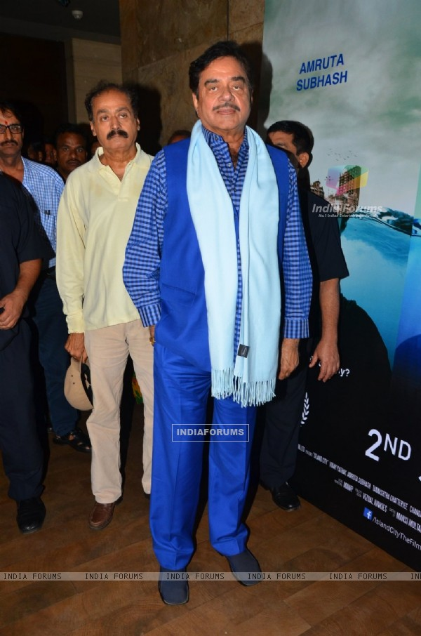 Shatrughan Sinha at Special screening of the Film 'Island City'