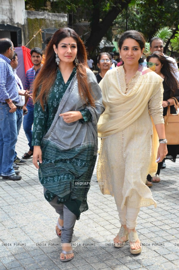 Raveena Tandon and Shaina NC at Launch of State-of-the-Art Toilets for Police and Railways