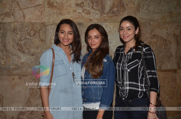 Sonakshi Sinha and Bhavna Pandey at Special Screening of 'Freaky Ali'