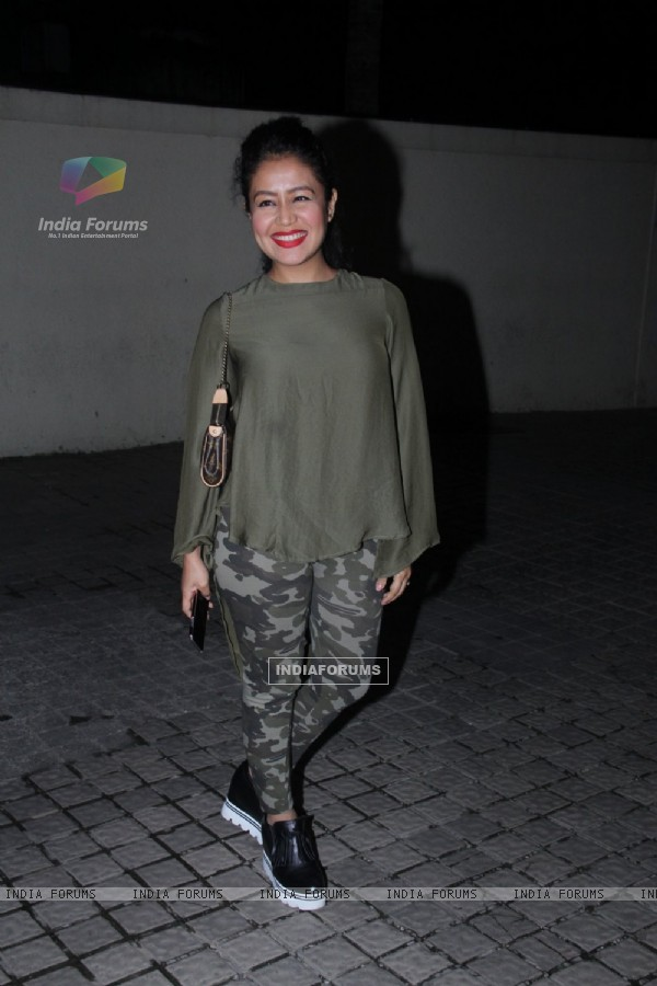 Neha Kakkar at Special screening of 'Bar Bar Dekho'