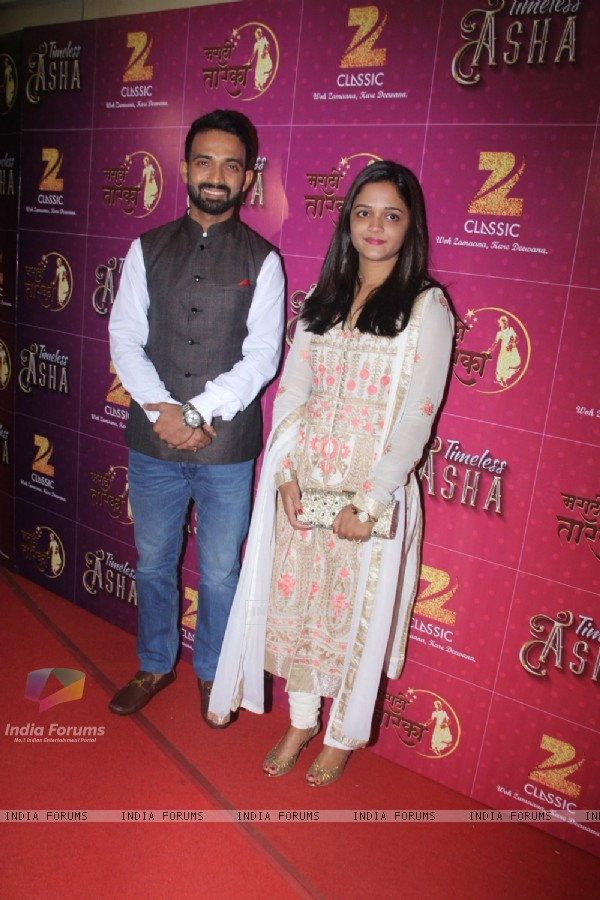 Ajinkya Rahane at Birthday Bash of Asha Bhosle