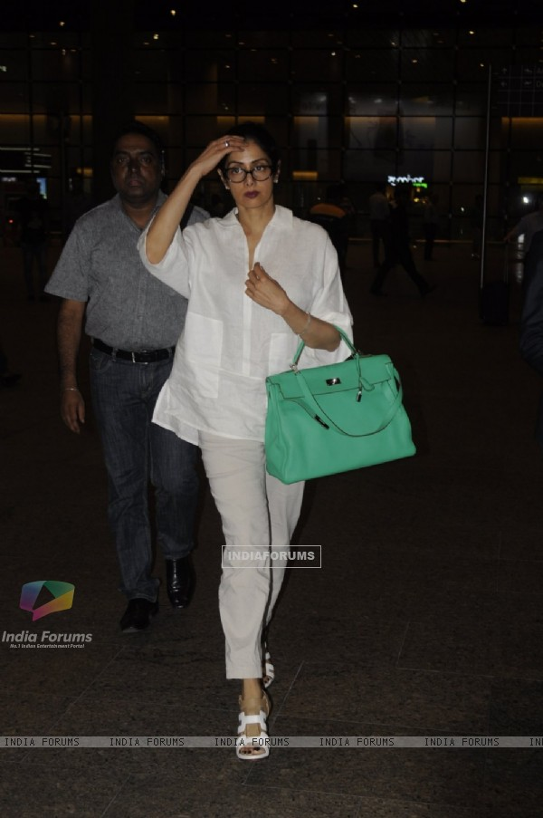 Vetran actress Sridevi Snapped at Airport