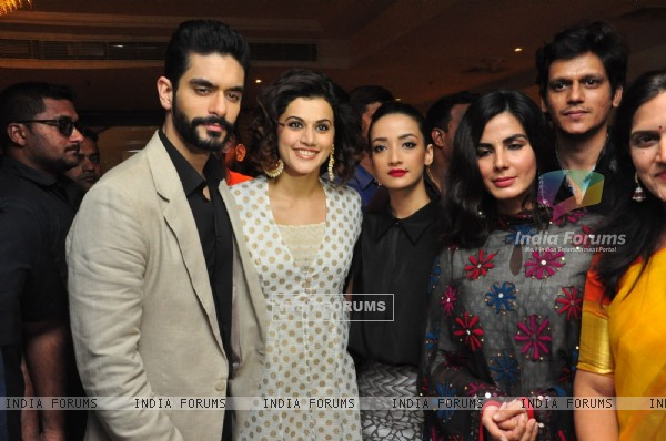 Actors Taapsee Pannu and Kirti Kulhari at Press Meet of the film 'Pink'