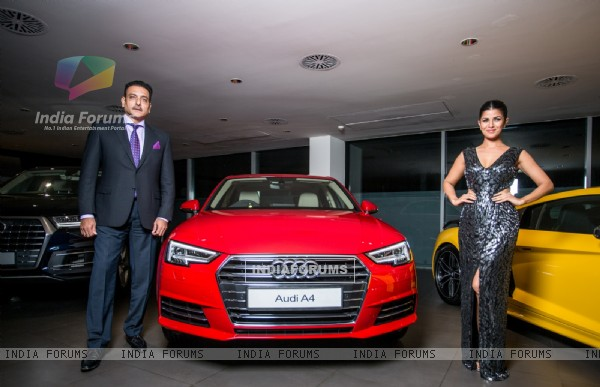 Nimrat Kaur and Ravi Shastri at AUDI A4 Launch!