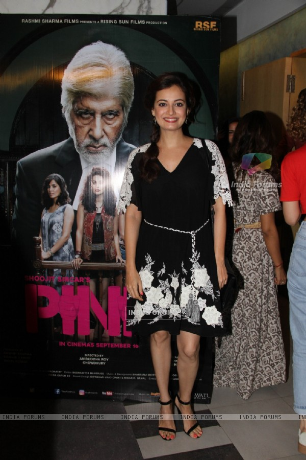 Dia Mirza at Special screening of Film 'Pink'