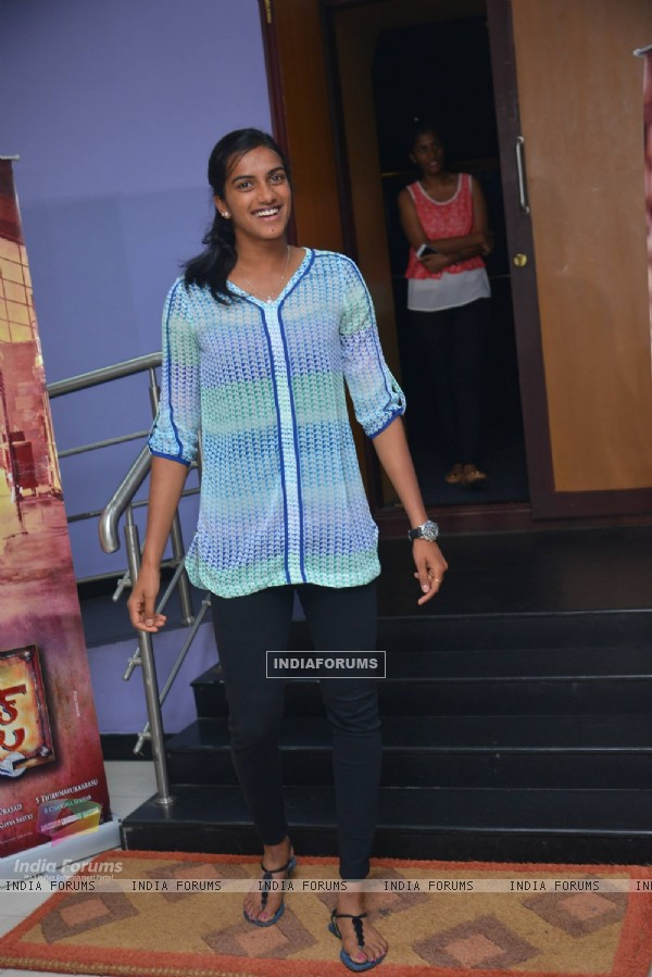 PV Sindhu at Janatha Garage show