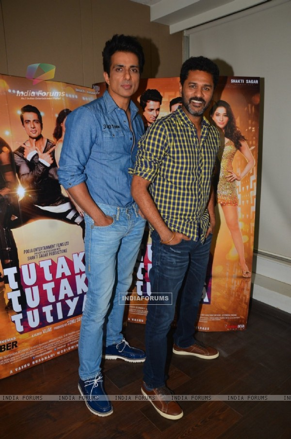 Sonu Sood and Prabhu Dheva at Promotions of 'Tutak Tootak Tutiya'