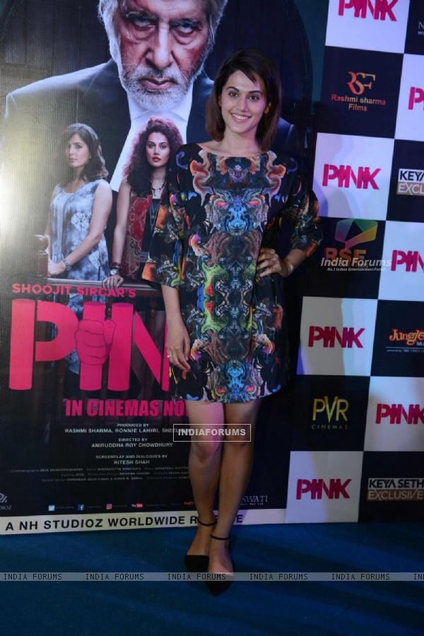 Taapsee Pannu at Press Meet of PINK in Delhi