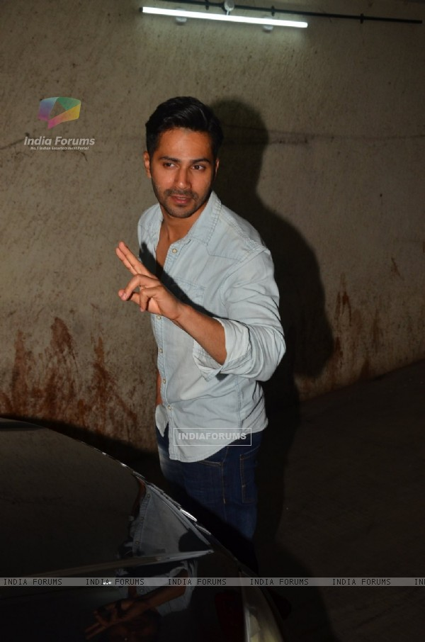 Varun Dhawan at screening of 'Pink'