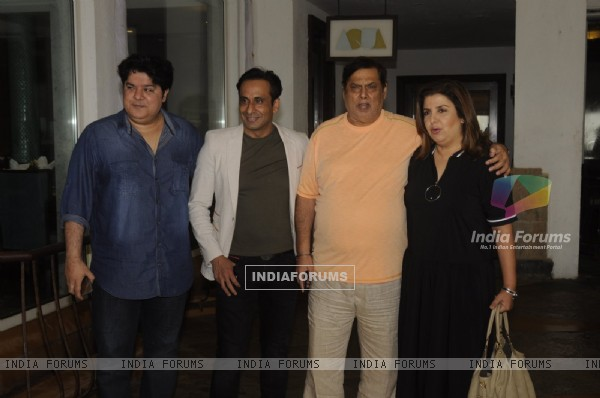 Farah Khan, David Dhawan and Sajid Khan at Launch of Jeet Gian book- The Three Wise Monkeys