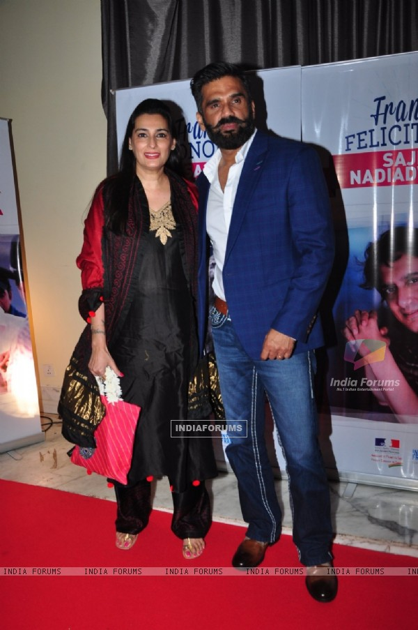 Suniel Shetty at Sajid Nadiadwala's french honour
