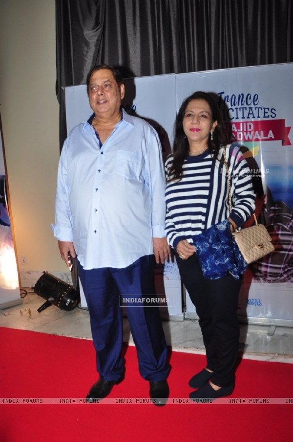 David Dhawan with wife Karuna Dhawan at Sajid Nadiadwala's french honour