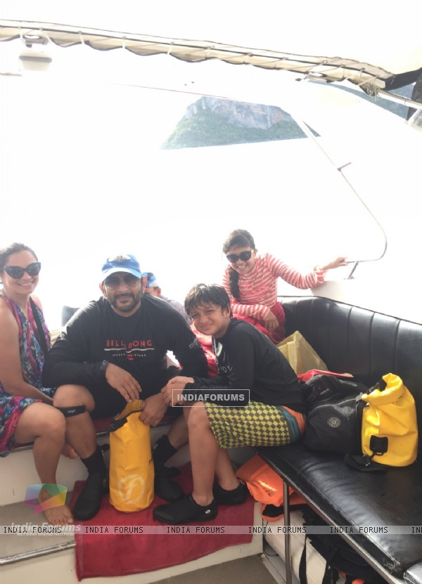 Actor Arshad Warsi on trip to Thailand with Family