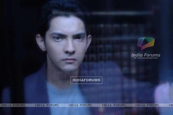 Aditya Narayan looking serious