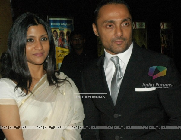 Rahul Bose and Konkona in the gala premeire of the movie The Japanese Wife
