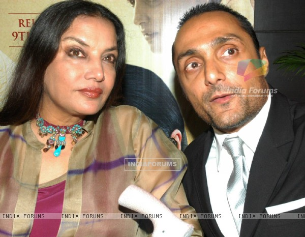 Shabana Azmi and Rahul Bose in the premeire of the movie The Japanese Wife