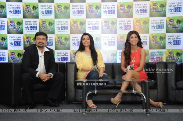Anupam Vasudev (evp Marketing Star Plus), Vaibhavi Merchant and Shilpa Shetty