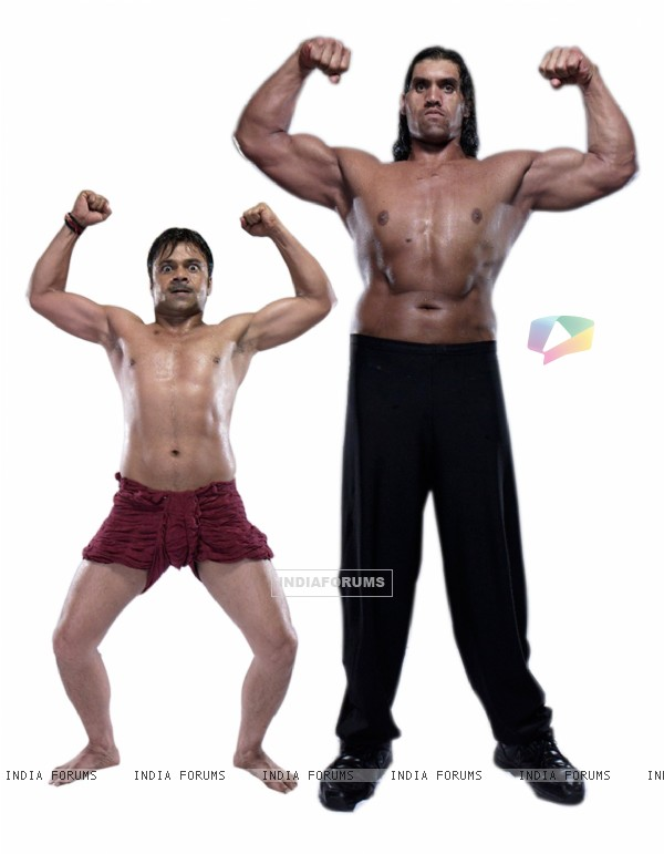 Still image of Khali and Rajpal Yadav