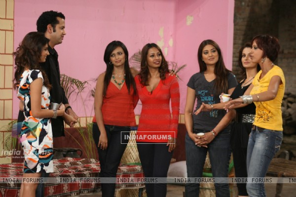 Rahul Mahajan and Dimpy in tv show Desi Girl