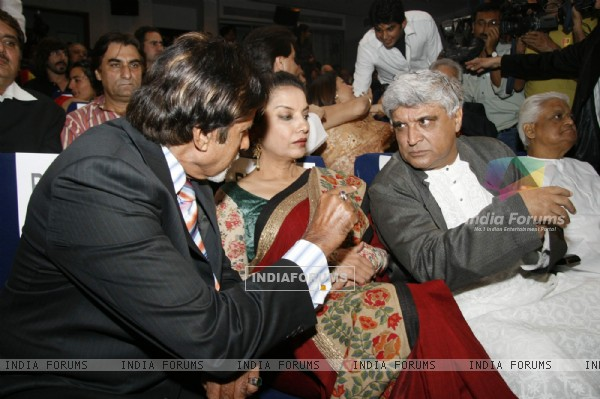 Amitabh Bachchan, Shabana Azmi and Javed Akhtar at the MAMI (Mumbai Academy of the Moving Image) film festival This year the festival will be dedicated to Hrishikesh Mukherjee In all, 125 films will be screened from 40 countries with special