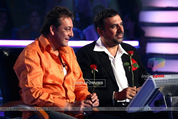 Sanjay Dutt and Boman Irani on KAUN BANEGA CROREPATI