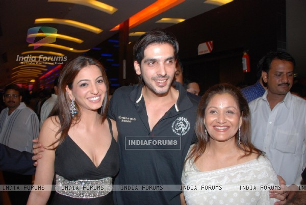 Zayed Khan, Anjoree Alag and Maya Alag were present at the premiere of the movie Life Mein Kabhie Kabhie at cinemax