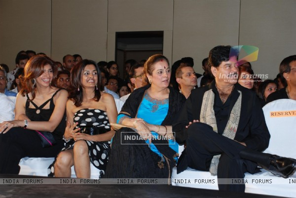 Shatrughna Sinha with wife Poonam among others attended the annual fashion show presented by the graduating students of SNDT University in Mumbai on April 13 The show was choreogrpahed by Marc Robinson