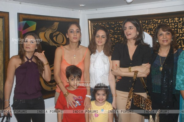 Suzanne Roshan at Ohm art exhibition at Juhu, in Mumbai