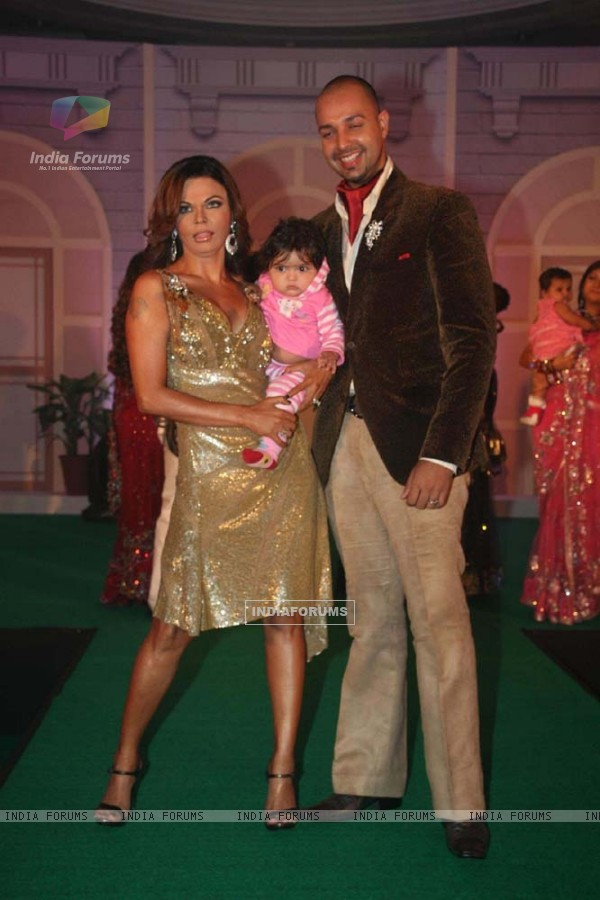"Rakhi Sawant and Elesh Parujanwala at the launch of ""Pati, Patni Aur Woh"""