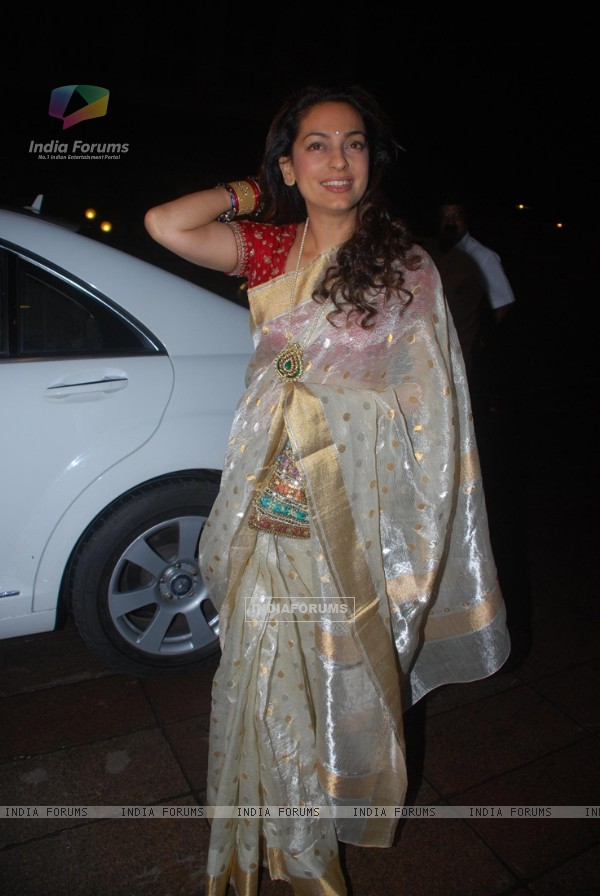 Juhi Chawla at Ramesh Taurani''s 25th Wedding Anniversary Celebrations, in Mumbai
