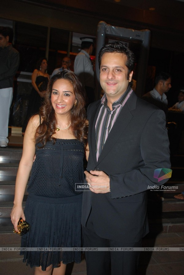 Fardeen Khan with his wife at Ramesh Taurani''s 25th Wedding Anniversary Celebrations, in Mumbai