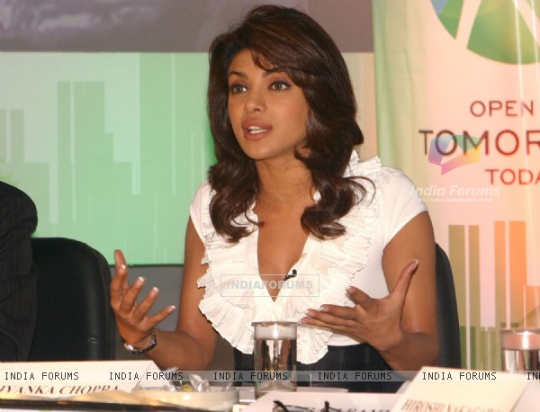 Union Minister for environment and forests bollywood actor Priyanka Chopra at a press-meet for the NDTV second wave of '''' Green Campaign'''' which includes the programme '''' Greenathon'''', in New Delhi on Tuesday