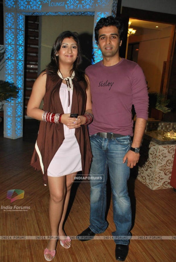 "Juhi Parmar with Sachin Sharma at the success bash of ""Yeh Chanda Kanoon Hain"""