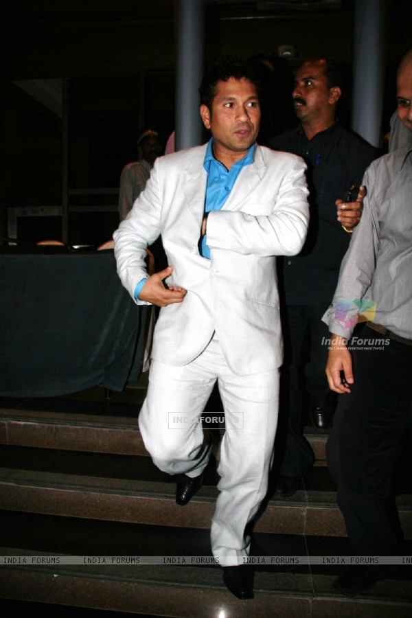 Sachin Tendulkar at Harsha Bhogle''s book launch at Taj Land''s End, in Mumbai