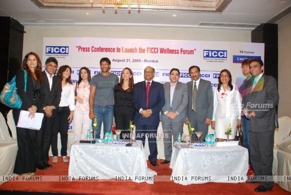 Milind Soman at FICCI wellness media meet at Mayfair Room in Mumbai on Friday evening