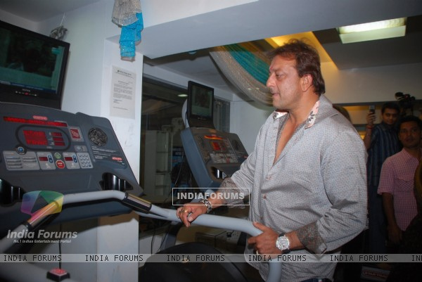 Sanjay Dutt at Healthworks Gym 1st Year Celebrations, in Mumbai