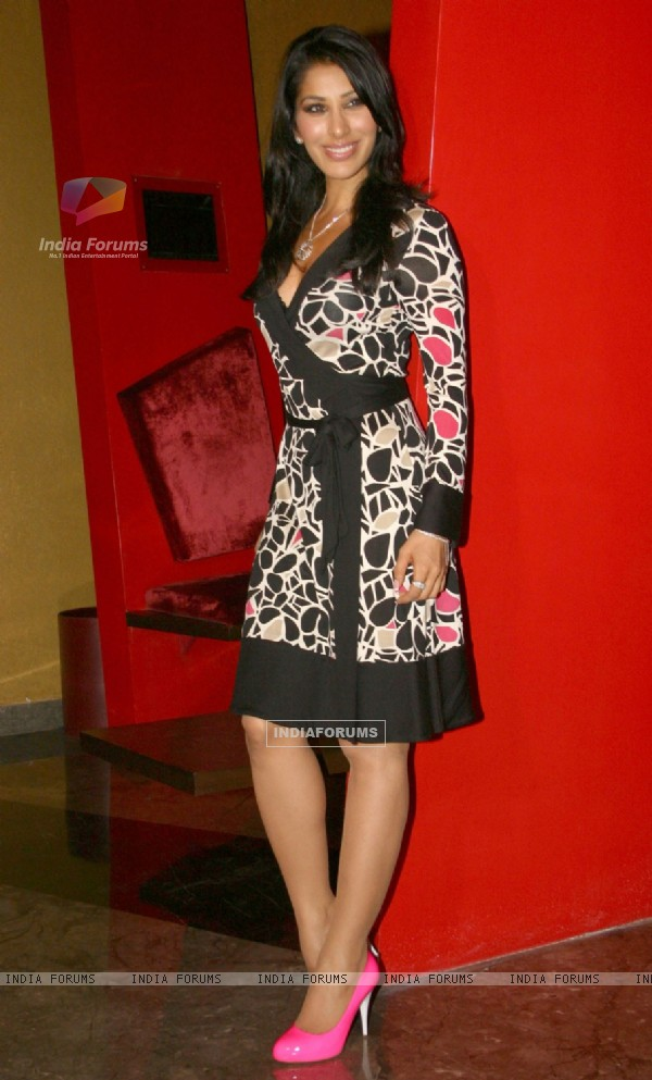 Sophie Chaudhry at a press meet for her film '''' Daddy Cool'''', in New Delhi on Tuesday