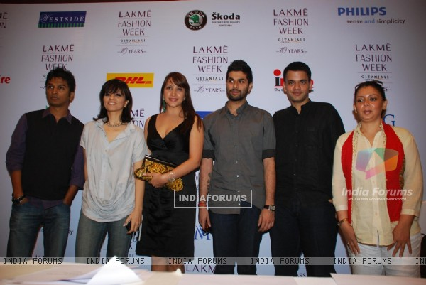 Top Designers at Lakme fashion week press meet