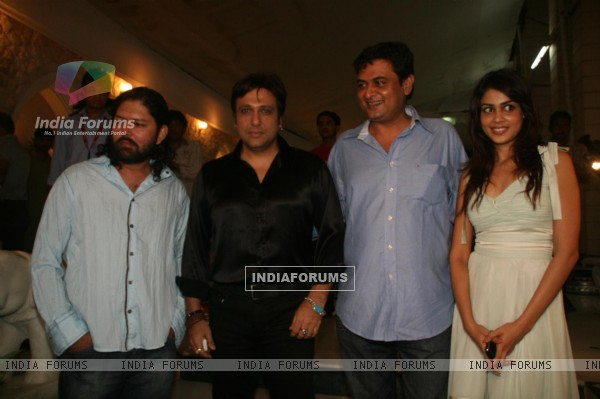 Bollywood actors Govinda and Genelia D''Souza at the success bash of ''''Life Partner""