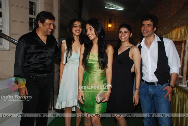 Bollywood actors Govinda, Amrita Rao, Genelia D''Souza, Prachi Desai and Tushar kapoor at the success bash of ''''Life Partner""