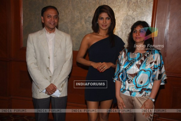 Priyanka Chopra poses at a press conference to announce her association with Bvlgari Save the Children campaign in Mumbai