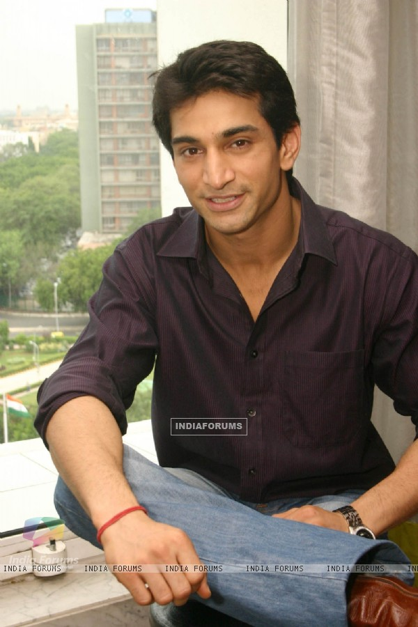 "NDTV Imagine''s ""Basera'''' actor Amit Jain at a press-meet in New Delhi on Wednesday"