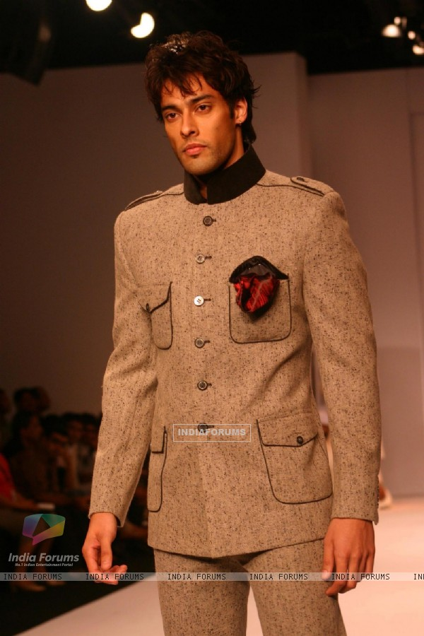 Model on the ramp for Designer Himmat Singh at India Mens Week at New Delhi