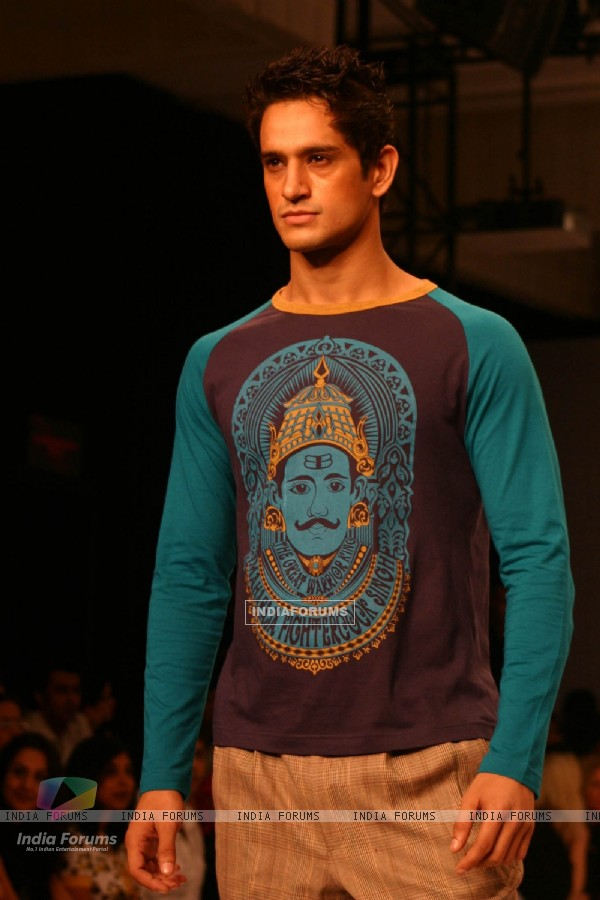 Model on the ramp for Designer Abhishek Gupta and Nandita Basu at India Men''s Fashion Week at New Delhi