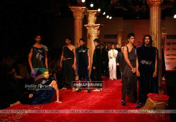 "Models on the ramp for Designer Shantanu and Nikhil at ""India Mens Week"""